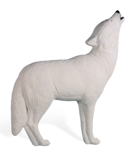 White Howling Wolf